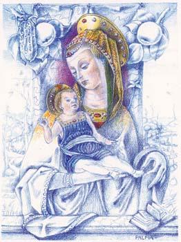 Disegno Madonna Blu